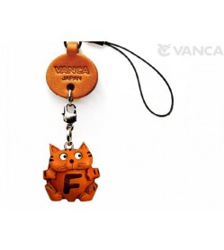 Cat F Leather Cellularphone Charm Alphabet