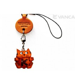 Cat K Leather Cellularphone Charm Alphabet