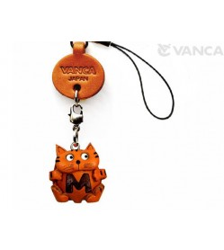 Cat M Leather Cellularphone Charm Alphabet