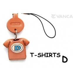 D(Blue) Japanese Leather Cellularphone Charm T-shirt