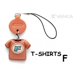 F(Blue) Japanese Leather Cellularphone Charm T-shirt