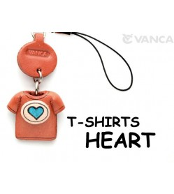 Hearts(Blue) Japanese Leather Cellularphone Charm T-shirt