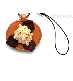 Hydrangea Leather Flower Cellularphone Charm