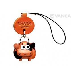Cow Japanese Leather Cellularphone Charm Zodiac Mascot