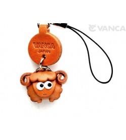 Sheep Japanese Leather Cellularphone Charm Zodiac Mascot