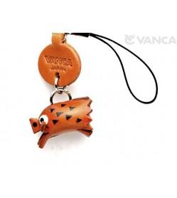 Wild Boar Japanese Leather Cellularphone Charm Zodiac Mascot