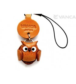 Owl Japanese Leather Cellularphone Charm Mascot