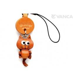 Cat Japanese Leather Cellularphone Charm Mascot