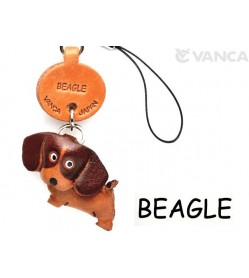 Beagle Leather Cellularphone Charm