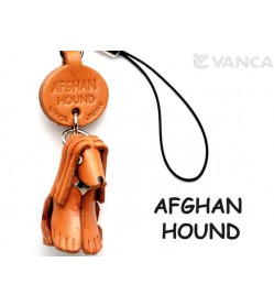 Afghan Hound Leather Cellularphone Charm