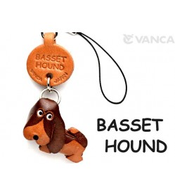 Basset Hound Leather Cellularphone Charm