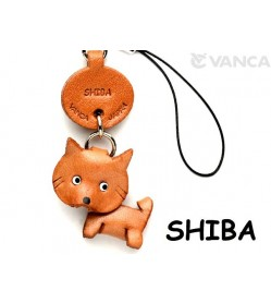 Shiba Dog Leather Cellularphone Charm #46758