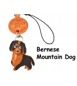 Bernese Mountain Dog Leather Cellularphone Charm
