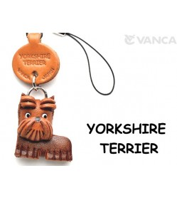 Yorkshire Terrier Leather Cellularphone Charm #46767