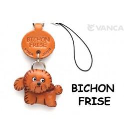 Bichon Frise Leather Cellularphone Charm