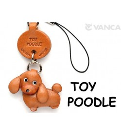 Toy Poodle Leather Cellularphone Charm #46763
