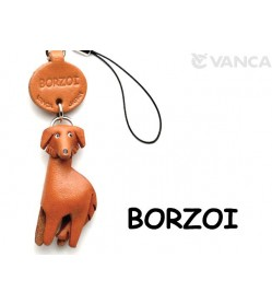 Borzoi Leather Cellularphone Charm
