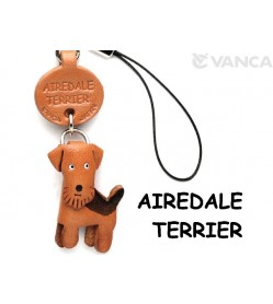 Airedale Terrier Leather Cellularphone Charm