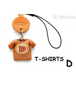D(Red) Japanese Leather Cellularphone Charm T-shirt