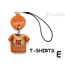 E(Red) Japanese Leather Cellularphone Charm T-shirt