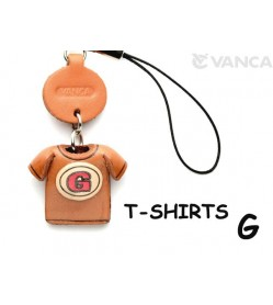 G(Red) Japanese Leather Cellularphone Charm T-shirt