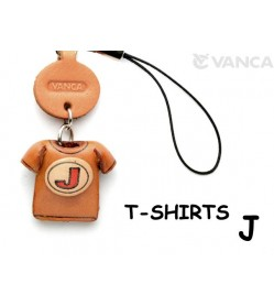 J(Red) Japanese Leather Cellularphone Charm T-shirt