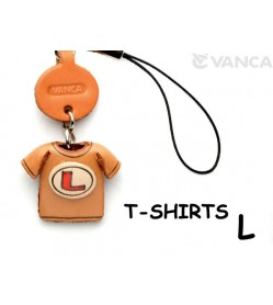 L(Red) Japanese Leather Cellularphone Charm T-shirt