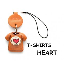 Hearts(Red) Japanese Leather Cellularphone Charm T-shirt