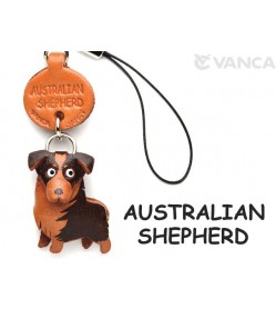 Australian Shepherd Leather Cellularphone Charm #46768
