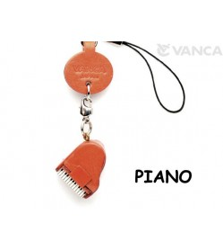 Piano Japanese Leather Cellularphone Charm Goods