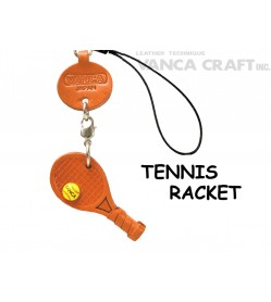 Tennis racket Japanese Leather Cellularphone Charm Goods