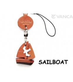 Sailboat Japanese Leather Cellularphone Charm Goods