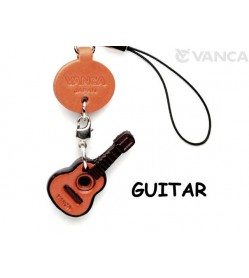 Guitar Leather Cellularphone Charm