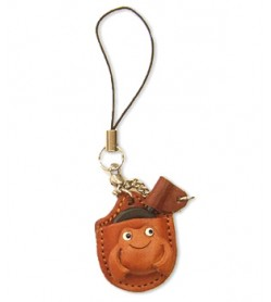 Frog Japanese Leather Cellularphone Charm Magnifying glass