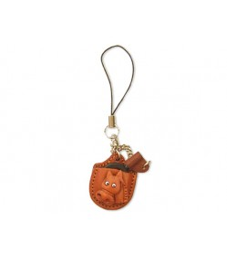 Horse Japanese Leather Cellularphone Charm Magnifying glass