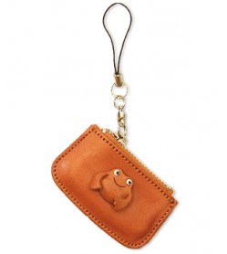 Frog Japanese Leather Cellularphone Charm Change Purse