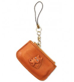 Horse Japanese Leather Cellularphone Charm Change Purse