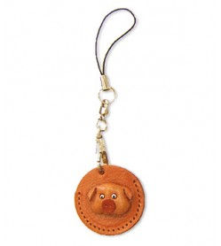 Pig Japanese Leather Cellularphone Charm Coin cases #46444