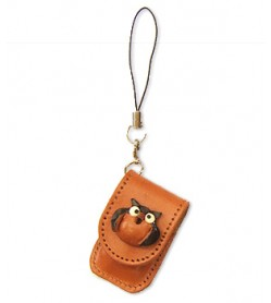 Owl Japanese Leather Cellularphone Charm Memo set
