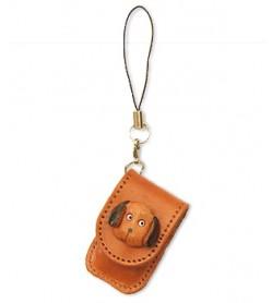 Dog Japanese Leather Cellularphone Charm Memo set