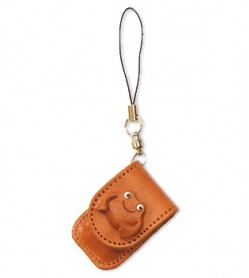 Frog Japanese Leather Cellularphone Charm Memo set