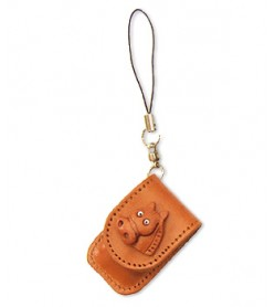 Horse Japanese Leather Cellularphone Charm Memo set