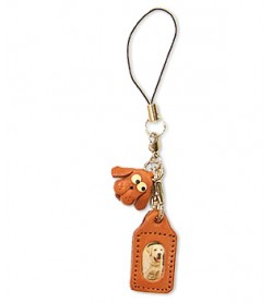 Dog Japanese Leather Cellularphone Charm Picture Frame Square