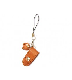 Owl Japanese Leather Cellularphone Charm Pencil case