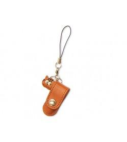 Cat Japanese Leather Cellularphone Charm Pencil case