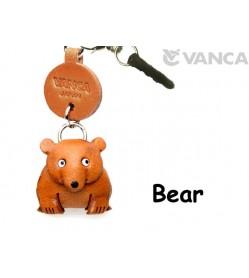 Bear Leather Animal Earphone Jack Accessory