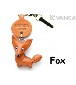Fox Leather Animal Earphone Jack Accessory