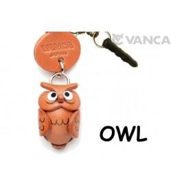 Owl Leather Animal Earphone Jack Accessory