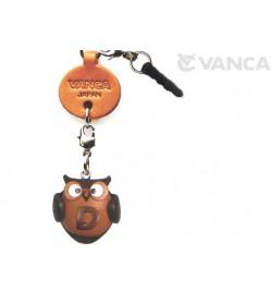 Alphabet Owl D Leather Animal Earphone Jack Accessory