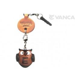 Alphabet Owl E Leather Animal Earphone Jack Accessory